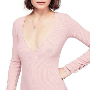 NWT Free People Cozy Up With Me Bodysuit